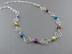 Single Swirl Necklace