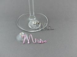 Mr & Mrs Wine Glass Charms Wedding Gift