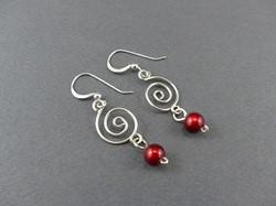 Single Swirl Earrings