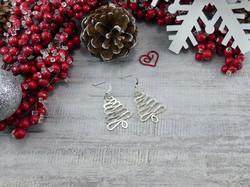 Squiggle Christmas Tree Earrings