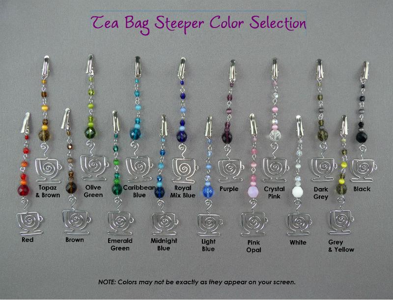 Tea Bag Steeper Color Choices