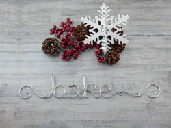 Bake ~ Wire Word Sign