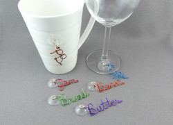 PB & J Suction Cup Beverage Glass Charms