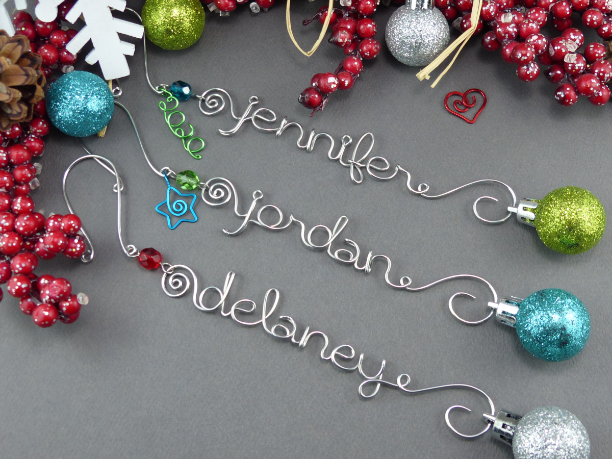 Custom Name Ornaments