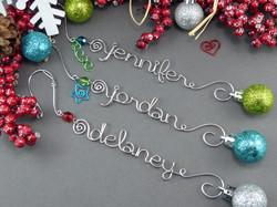 Custom Name Ornaments