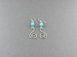 Drop Swirl Earrings