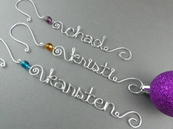 Personalized Wire Ornaments