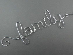 family - Wire Word Sign
