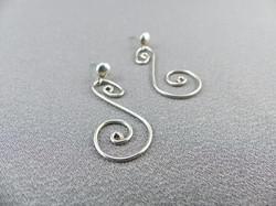 Swan Swirl Earrings with Studs