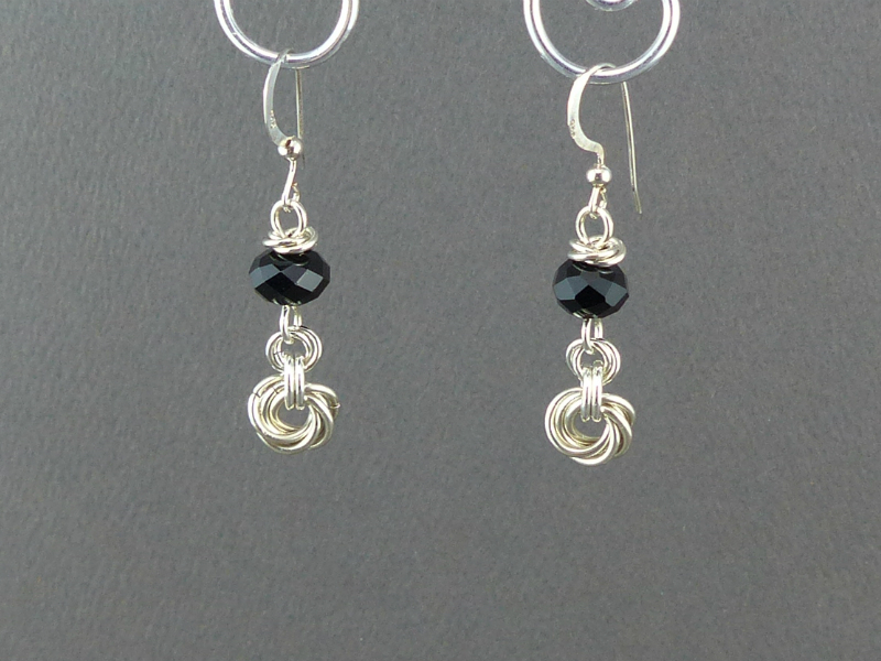 Chainmaille Rose Earrings