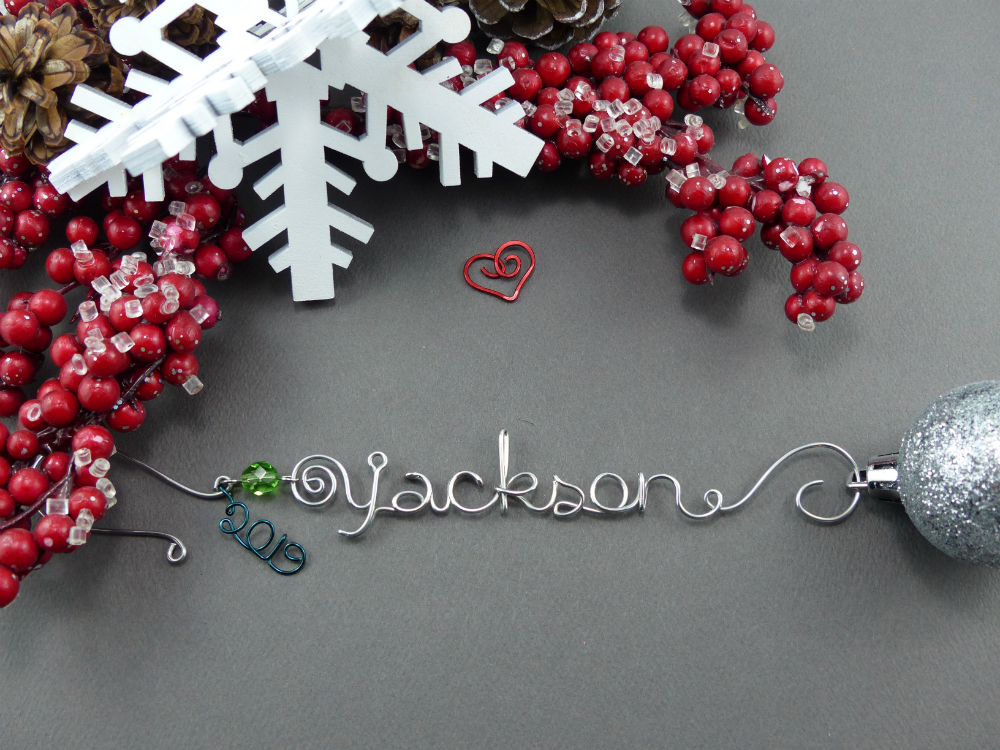 Christmas Ornament Hanger with Year