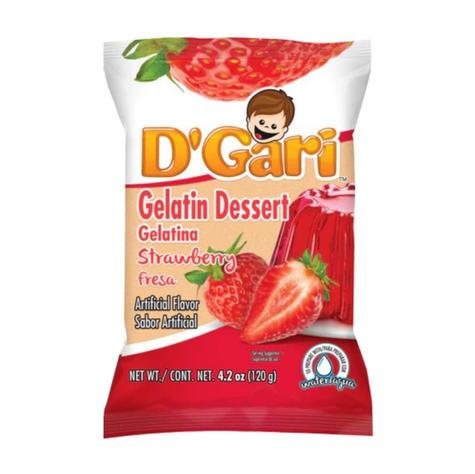 D'Gari Strawberry Gelatin Powder