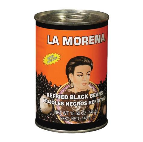 La Morena Refried Black Beans