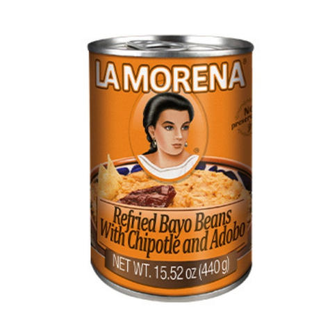 La Morena Refried Bayo Beans With Chipotle