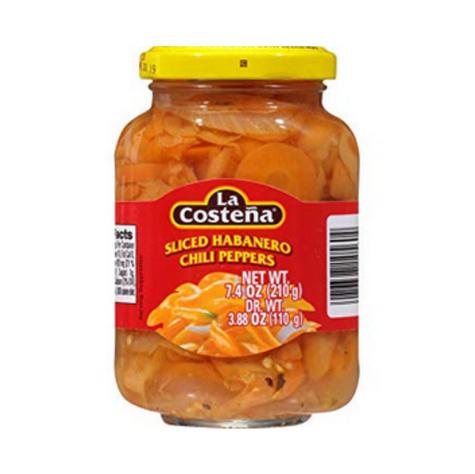 La Costena Sliced Habanero Peppers