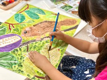 夏季絵画教室を開催!夏休みのポスター指導