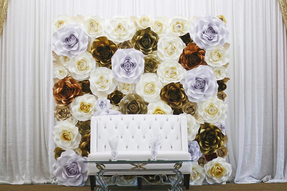 paper flower wall rental richmond