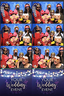 Blue Blackdrop Wedding Photo Booth Pose