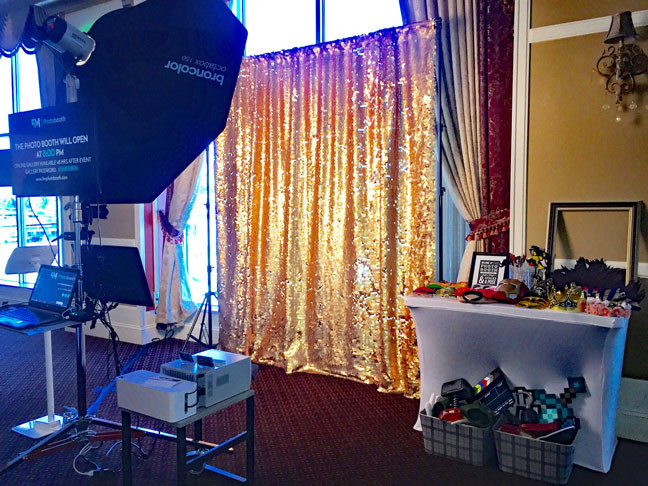 photo booth rental in delta angled setup