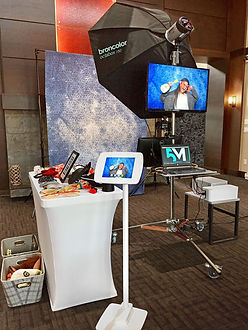 Angled Photo Booth Setup Event