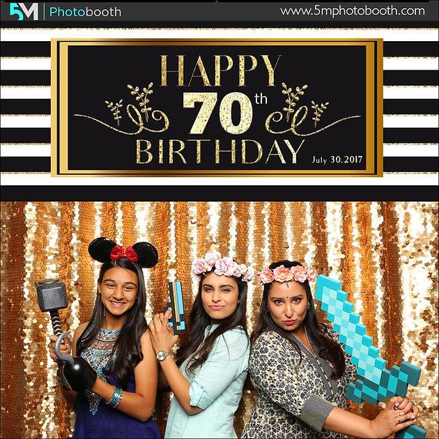 Photo Booth Rental Delta | Happy 70th Birthday
