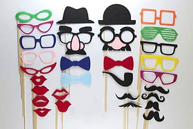 Colorful Photo Booth Stick Props