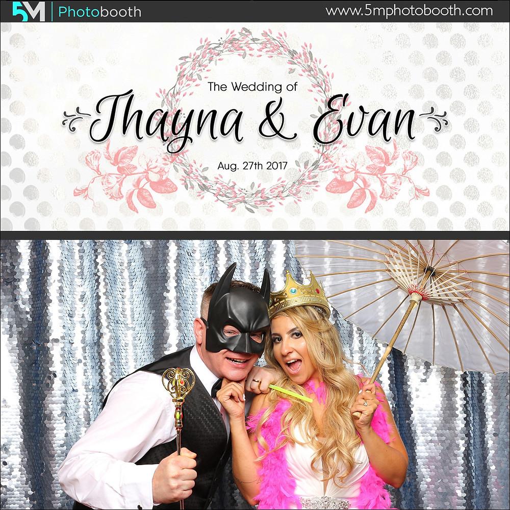 wedding photo booth rental langley couple