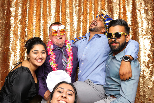 photo booth rental in delta laughing friends