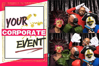 Black Sequins Corporate Photo Booth Pose