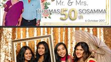 Thomas & Sosamma's 50th Wedding Anniversary | Photo Booth Rental Richmond