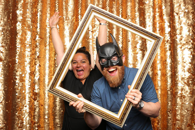 photo booth rental in delta happy duo