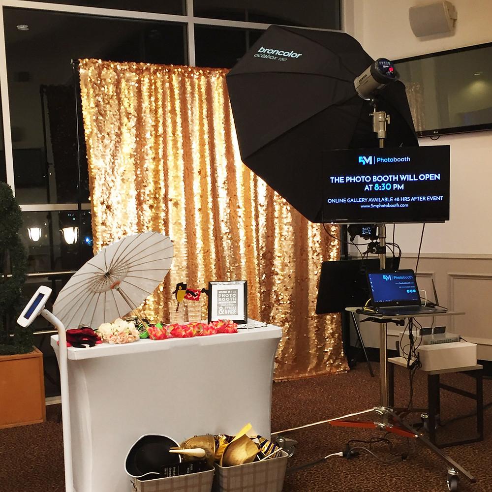 photo booth rental richmond 50th setup