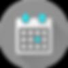 Calendar Circle Icon
