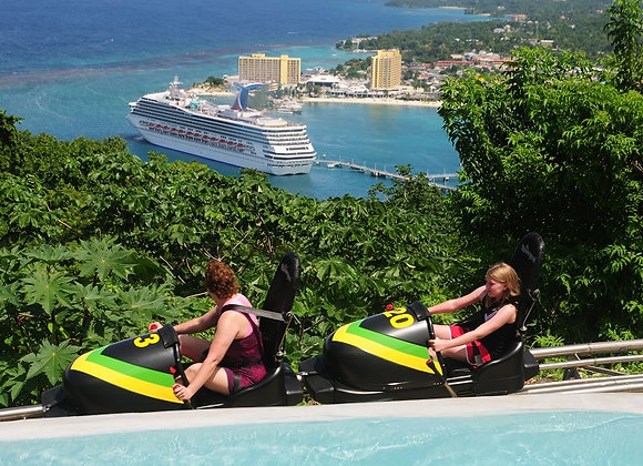 MONTEGO BAY TO MYSTIC MOUNTAIN BOBSLED THRILLER PRIVATE TOUR