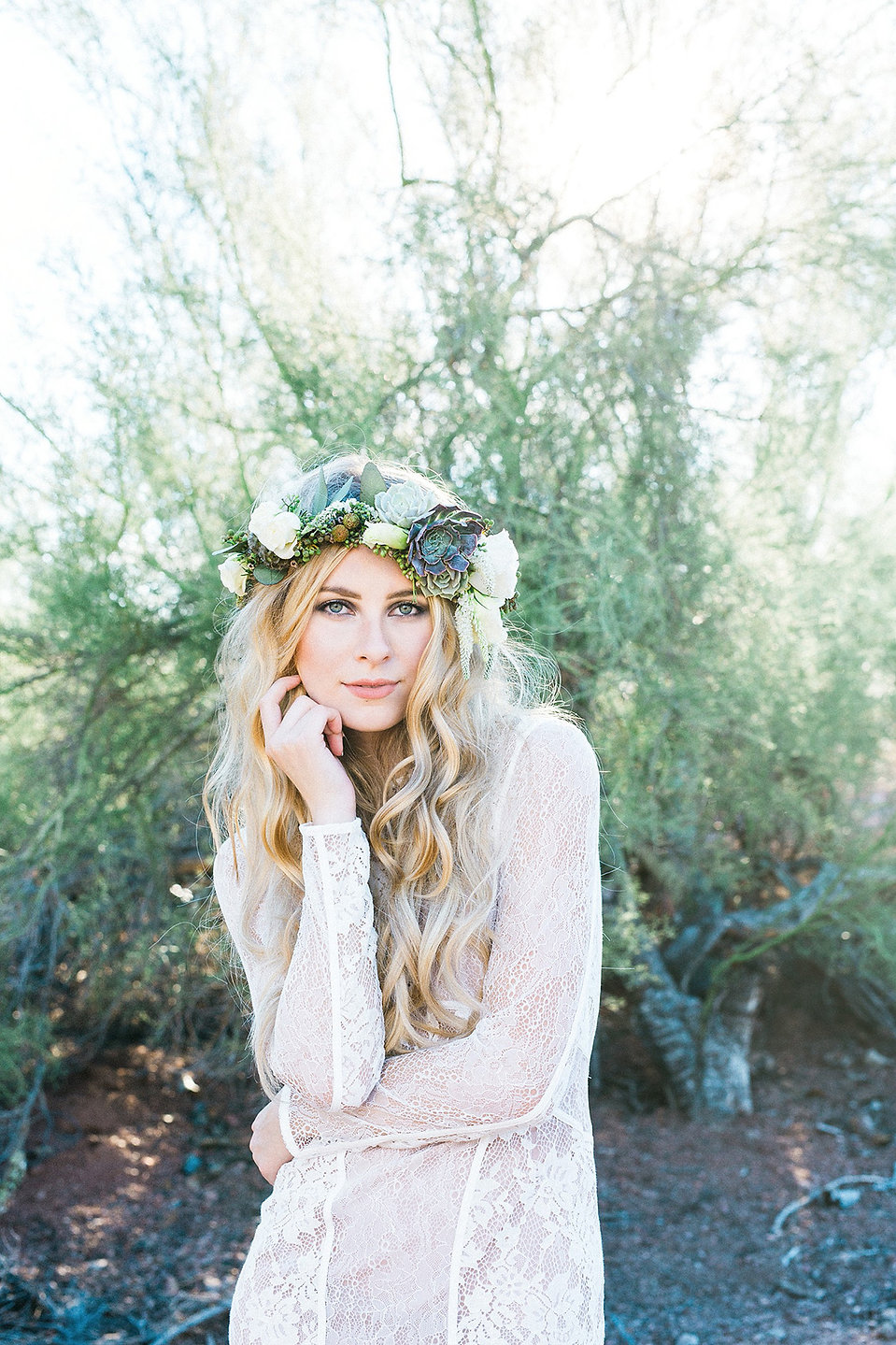 Boho Flower Crown Senior Pictures