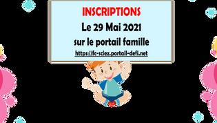 INSCRIPTIONS PERISCOLAIRES 2021-22