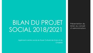 Bilan centre social 2018-2021