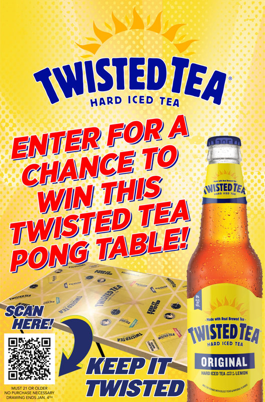 Twisted Tea Pong Table