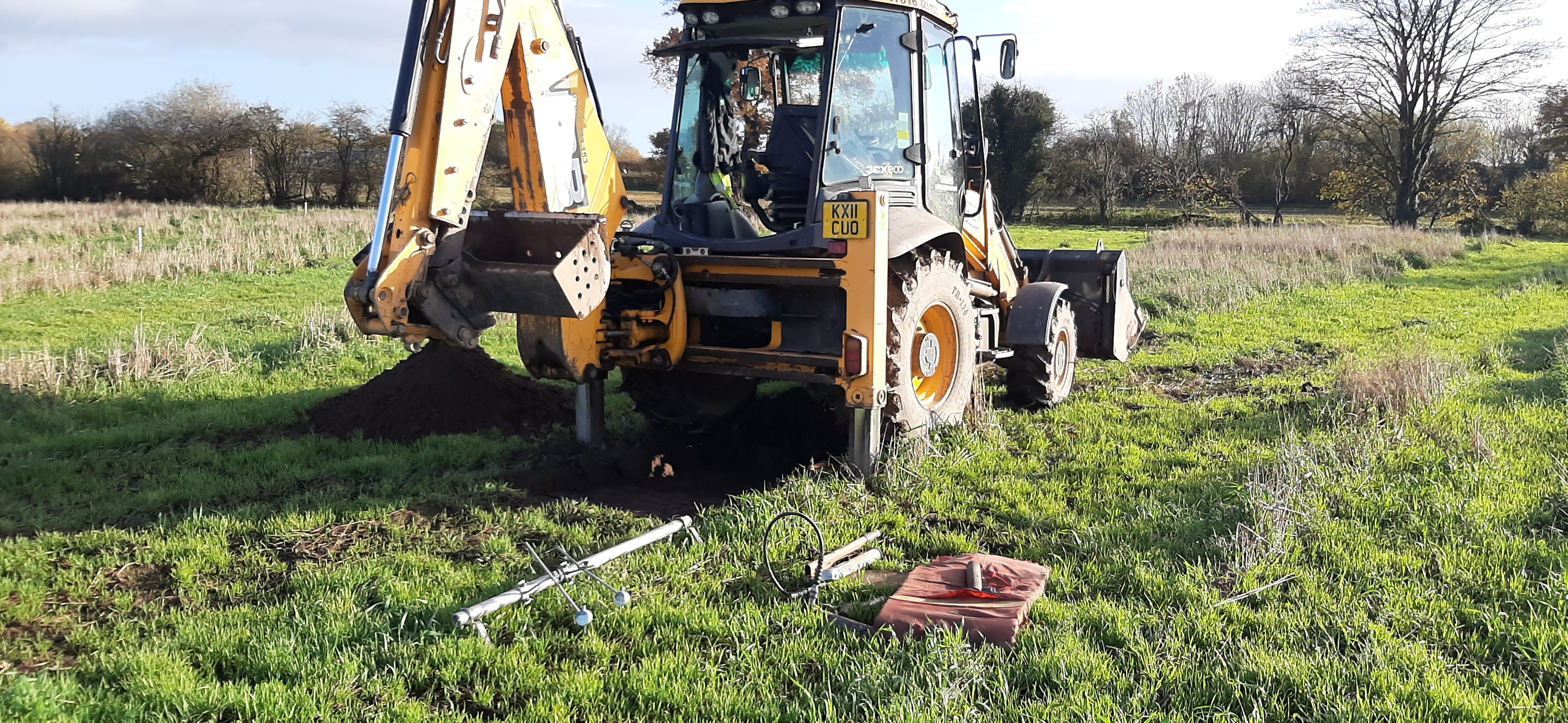 JCB 3CX Load Plate Test
