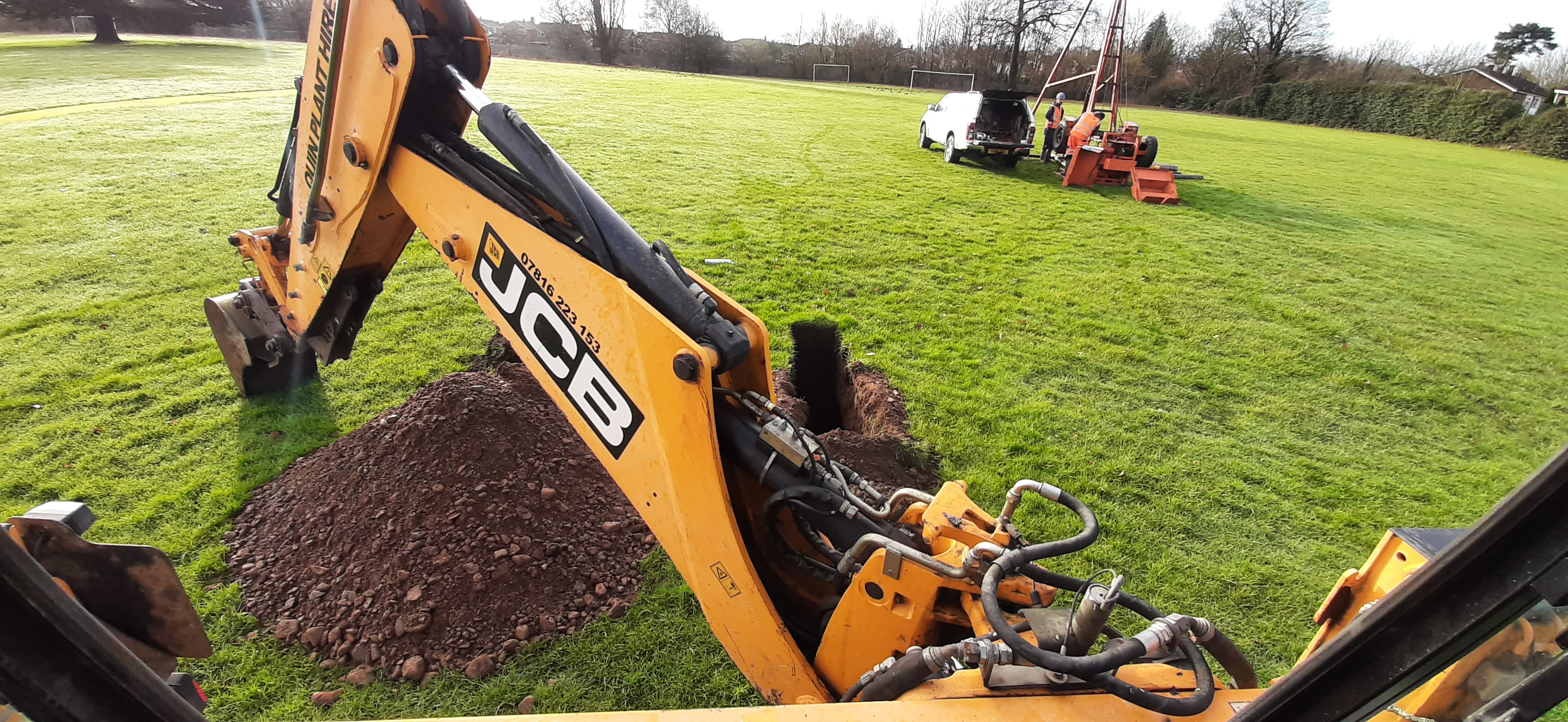 JCB 3CX Trial Holes