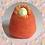 Womb Dreamer fertility doll felted in orange colours