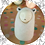 Animal Spirit doll for unconditional love felted in polar bear white