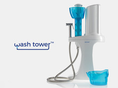 Wash tower, stand alone bidet system.