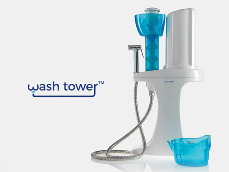 Wash tower, stand alone bidet system.