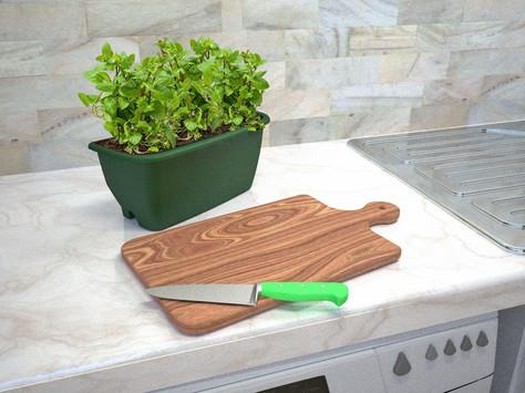 Rainwater Terrace detachable self watering herb planting pod.