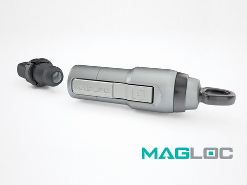 MAGLOC Aluminium magnetic heavy duty dog lead clip.