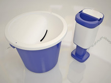 Charity collection range with tamper evident lids. All moulded in the UK.