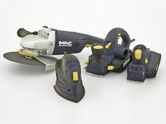 B & Q Mac Allister power tool range.