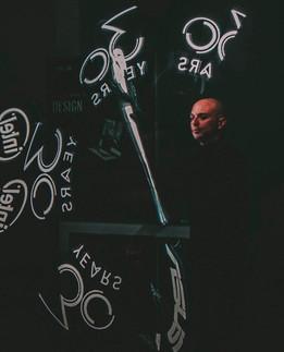 Spettacolo con LED visuali per evento aziendale