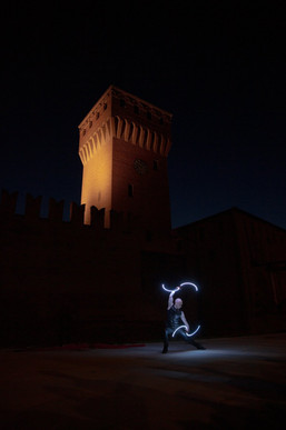 Spettacolo con LED buugeng